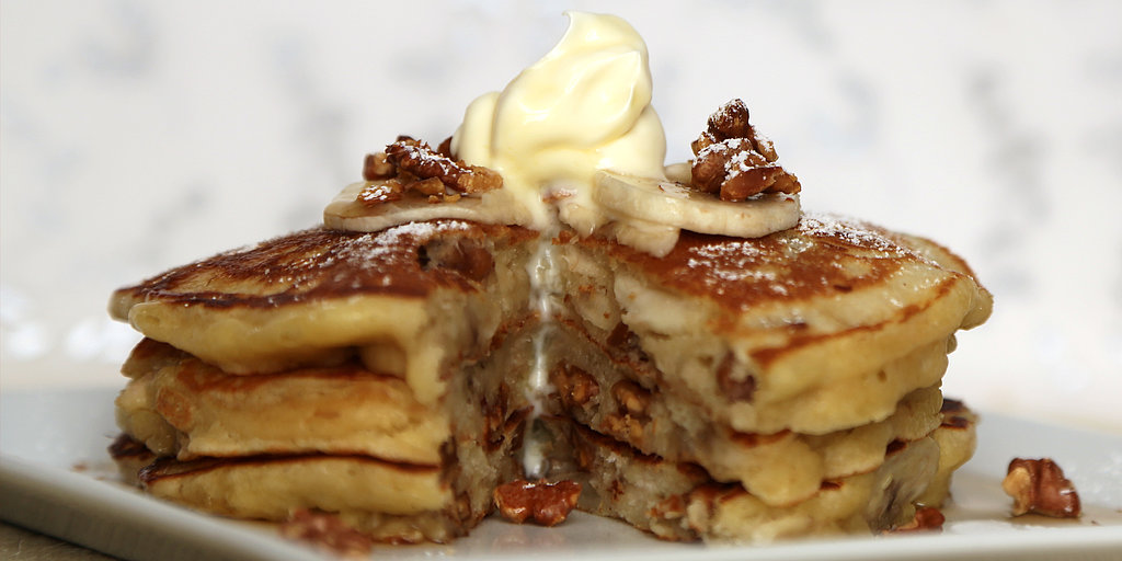 Banana Walnut Pancakes | POPSUGAR Food