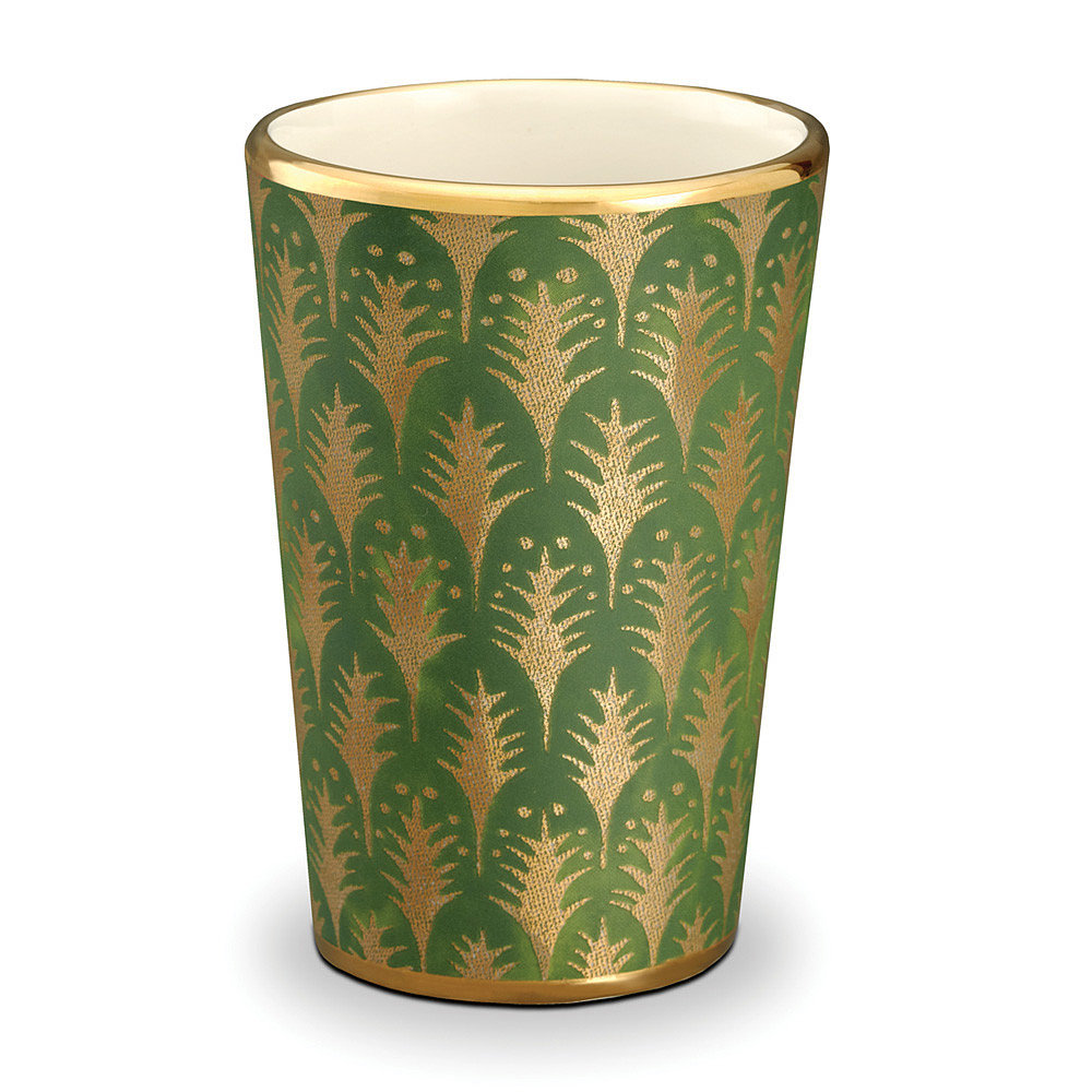 The rich tones of these green and gold tumblers ($175) give them a regal feel, but one that's still practical enough to wish for the luck of the Irish.