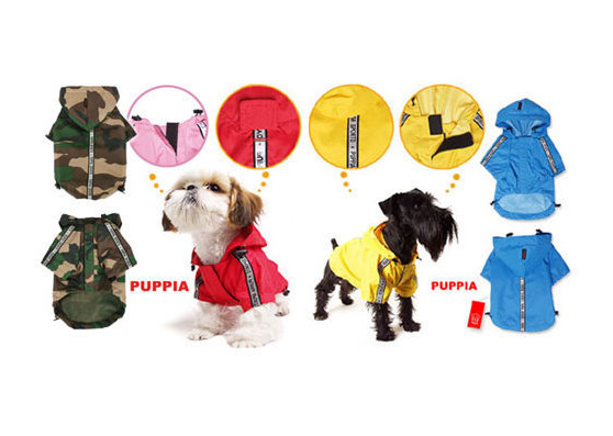 When it rains, it pours, so why not give your dog options? Puppia's Base raincoats ($39) come in a spectrum of colors and even camo print.