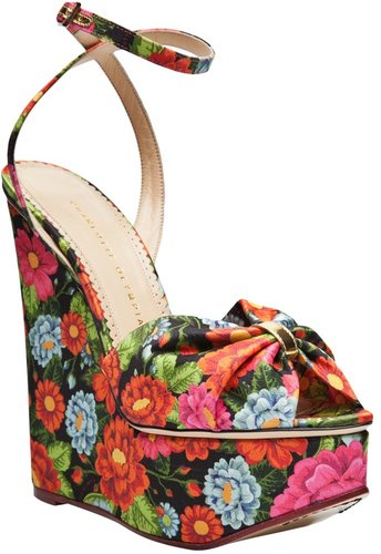 Charlotte Olympia Melody print wedge