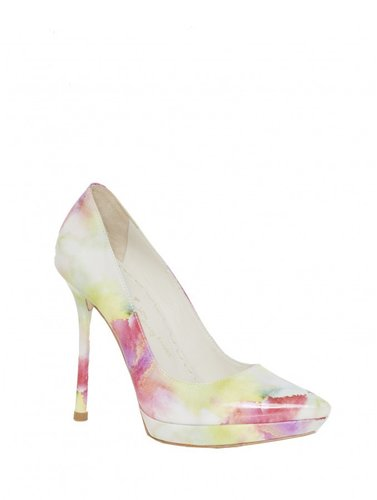 Danny Watercolor Printed Smooth Patent Heel