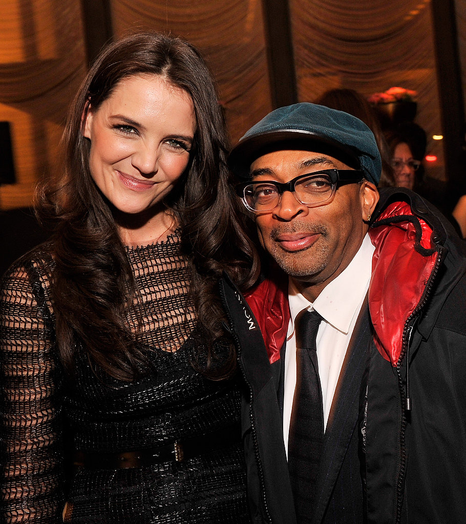 Katie Holmes posed with Spike Lee at The New York Observer's 25th anniversary party in NYC.