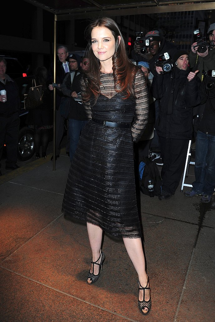 Katie Holmes wore Dolce & Gabbana for a night out in NYC.