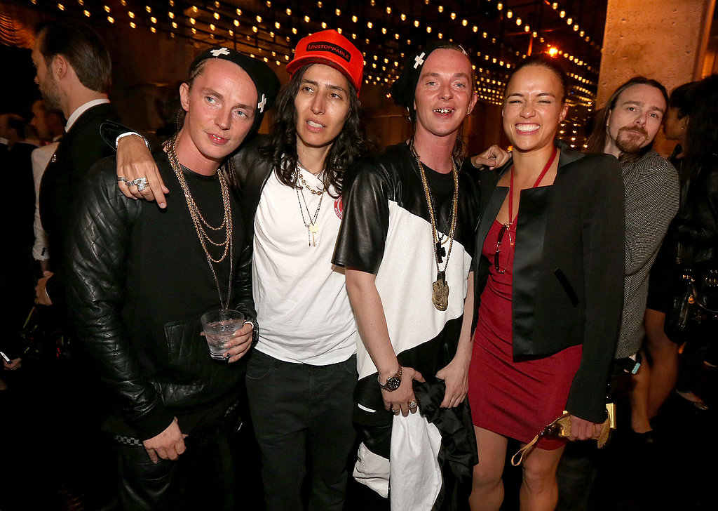 Michelle Rodriguez hung out with friends at the afterparty.