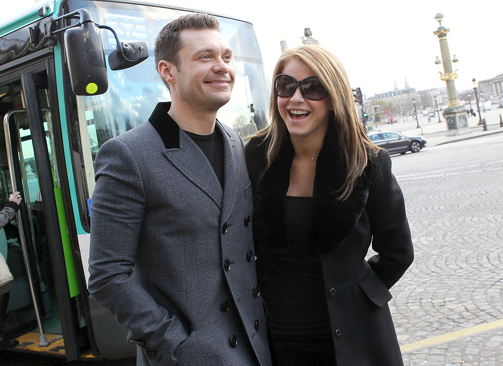 Julianne Hough and Ryan Seacrest posed on the streets of Paris in November 2010.