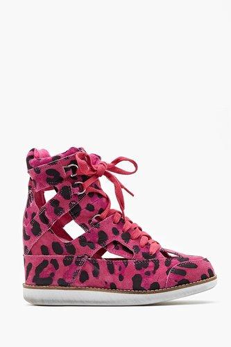Padua Wedge Sneaker - Pink Leopard