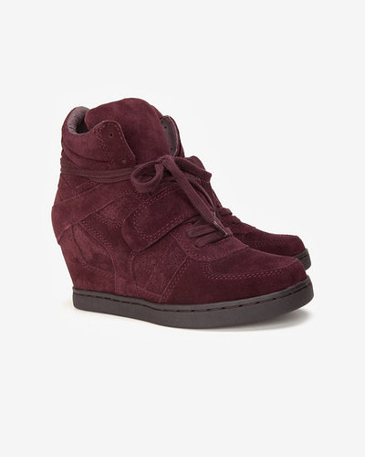 Ash Cool Laceup Wedge Sneaker: Prune