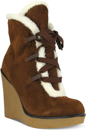 Mia Shoes, Glenda Platform Wedge Booties