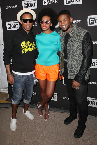 Solange Knowles, Pharrell Williams, and Usher linked up at the Converse party at SXSW.