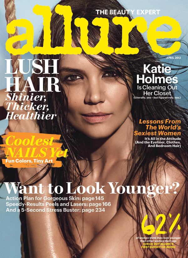Katie Holmes is Allure's <b>April cover</b> girl. Source: Tom Munro/Allure - Katie-Holmes-Allure-April-cover-girl