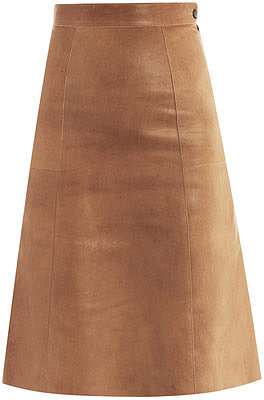 "[a href=""/womens/vanessa-bruno""]Vanessa Bruno[/a]              Leather midi skirt"