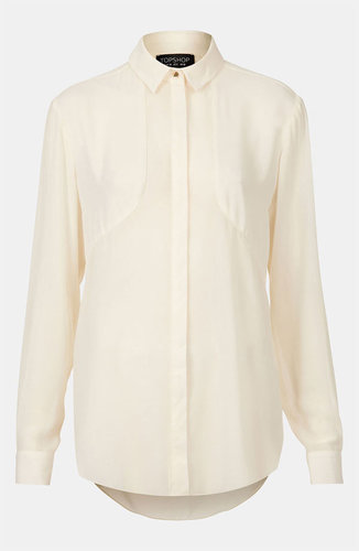 Topshop Contrast Panel Shirt