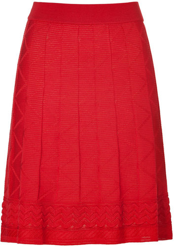 M Missoni Red Knit Skirt