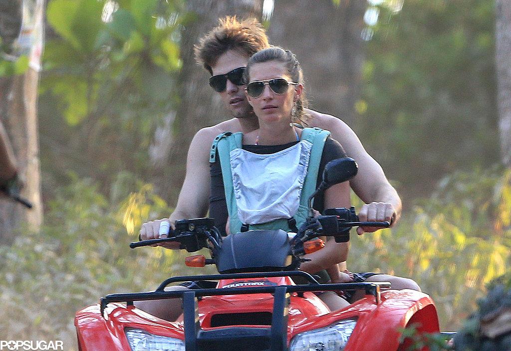 Tom Brady steered an ATV for Gisele Bündchen and Vivian.