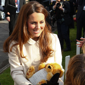 Kate Middleton Wears a White Coat For Official Visit