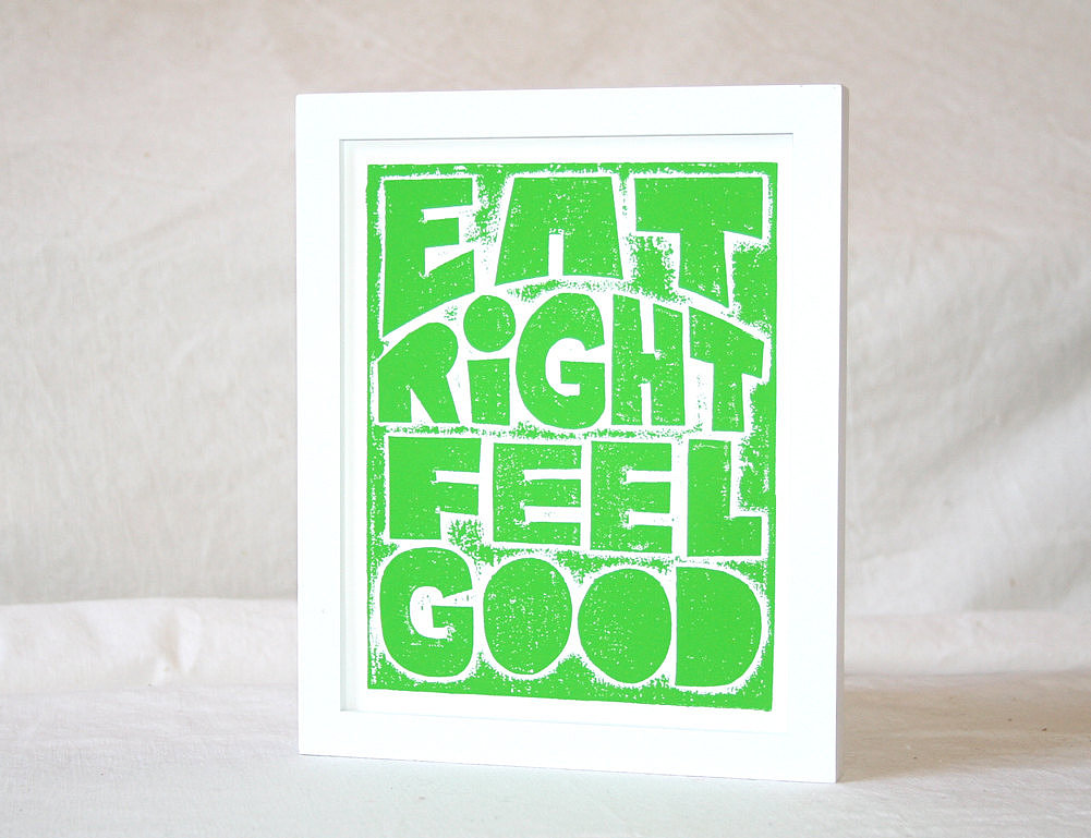 The mantra Eat Right Feel Good (approx $20) has kept many a woman committed to her healthy lifestyle.