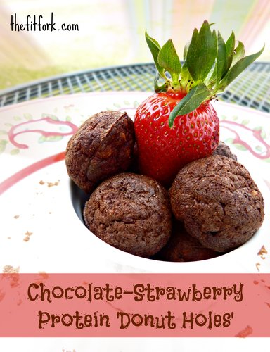 Chocolate Strawberry Protein 'Donut Holes'