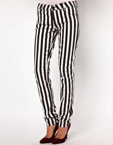 Only Stripe Skinny Jean