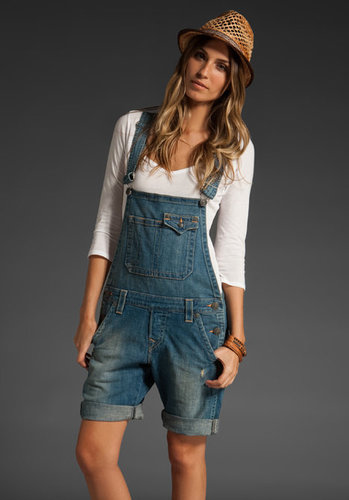 True Religion Bridgette Boyfriend Overall Shorts