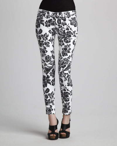 AG Adriano Goldschmied Sateen Floral-Print Leggings