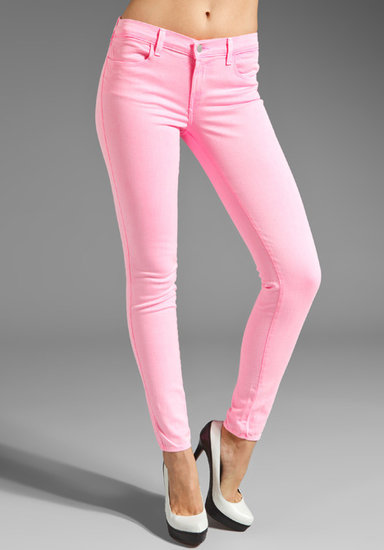 J Brand PINK PARTY EXCLUSIVE Midrise Super Skinny