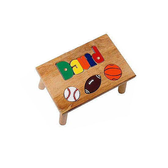 Ababy Personalized Sports Puzzle Stool