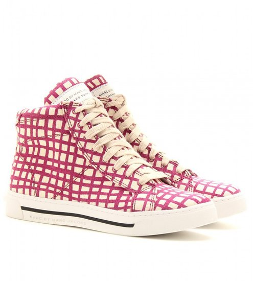 Marc by Marc Jacobs MYLO PRINT HIGH-TOP SNEAKERS