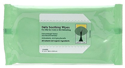 Shady Day Daily Soothing Wipes for After Sun Care or Skin Refreshing