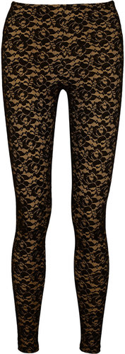 Norma Kamali Stretch-lace leggings