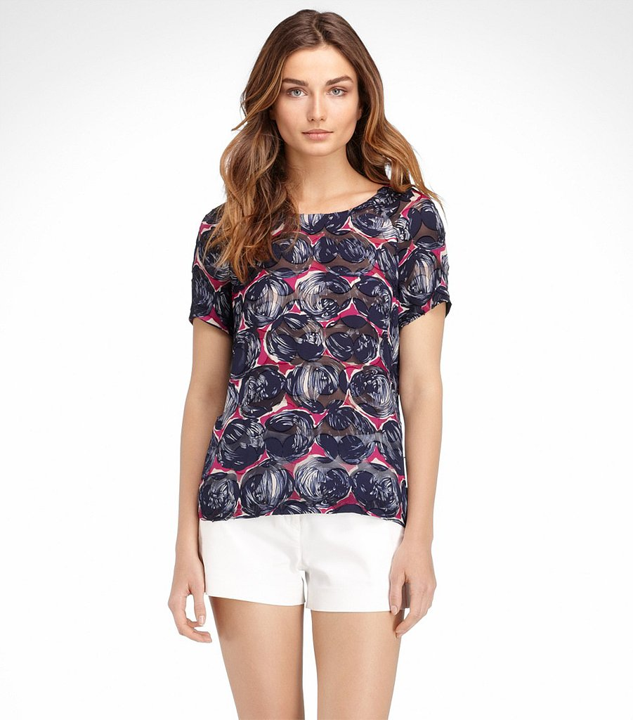 Tory Burch's Alexandra jacquard blouse ($88, originally $250) is the perfect Spring statement piece.
