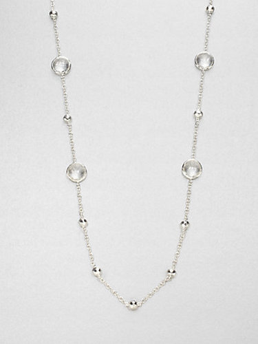 Ippolita Clear Quartz Sterling Silver Station Necklace