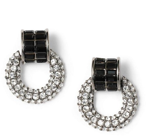Crystal Pave Doorknocker Earrings
