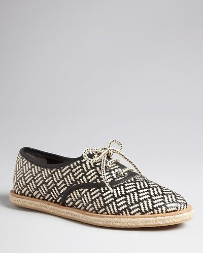 Loeffler Randall Lace Up Espadrille Flats - Odile