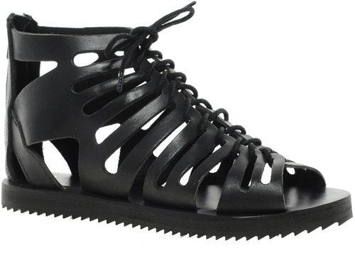 ASOS FESTIVAL Leather Gladiator Flat Sandals