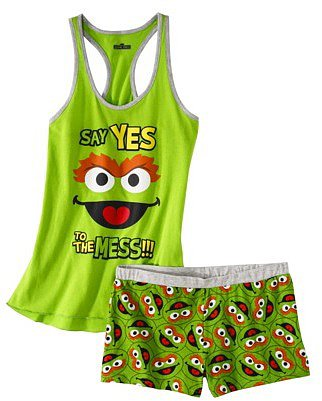 Sesame Street® Junior's Tank & Short Sleep Set - Oscar the Grouch