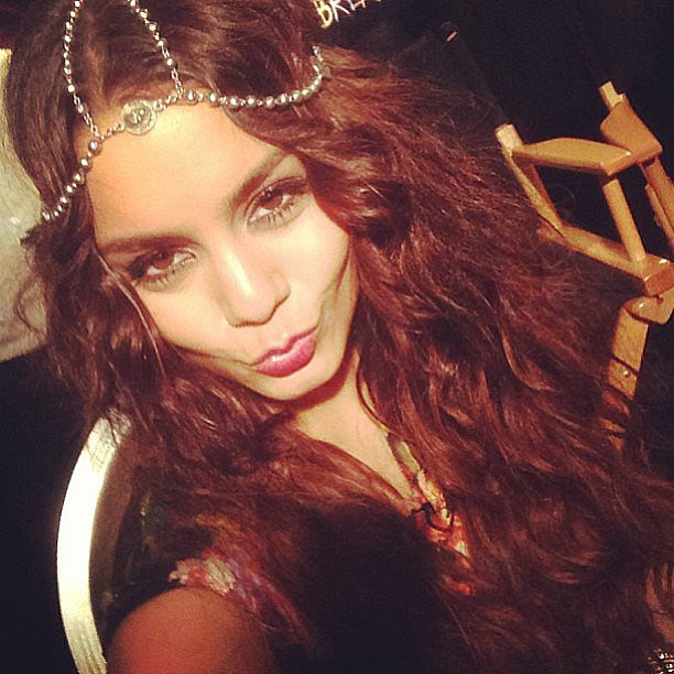 Vanessa Hudgens showed off some boho waves and a pretty Pamela Love headpiece.  Source: Instagram user vanessahudgens