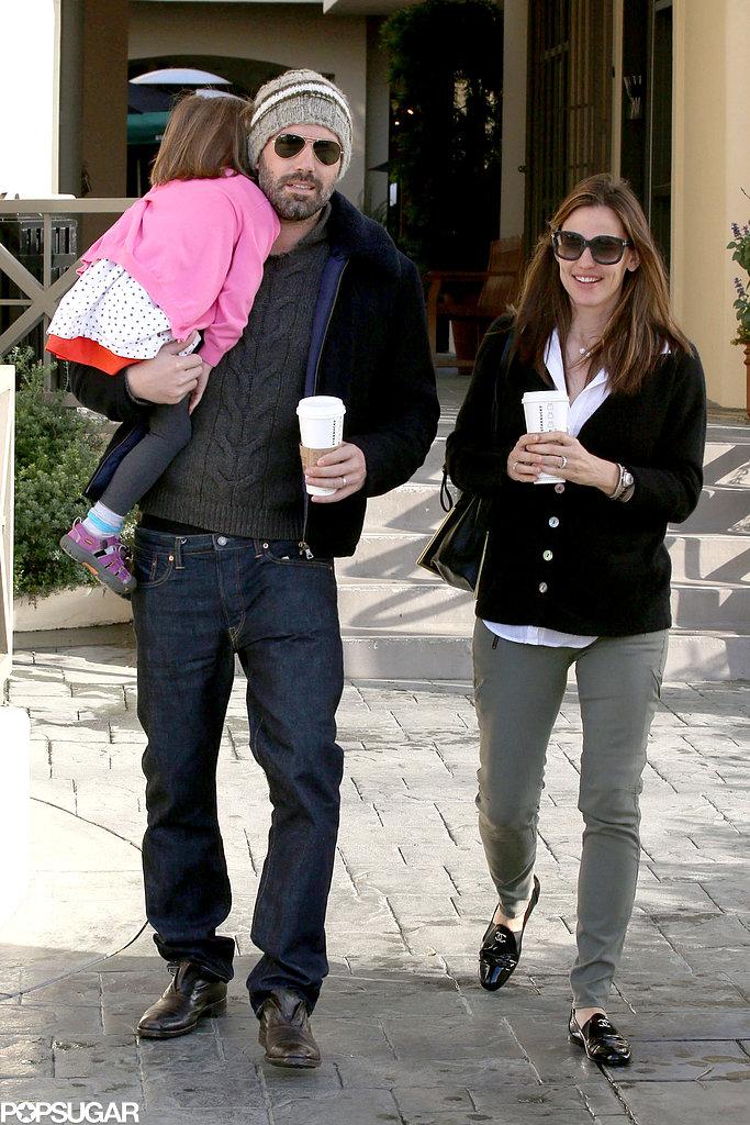 Ben Affleck and Jennifer Garner took Seraphina on a coffee run.