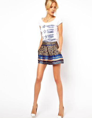 ASOS Silky Shorts in Floral Print