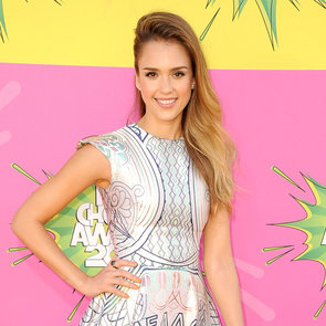Jessica Alba In Cool Printed Dress; 2013 Kids' Choice Awards