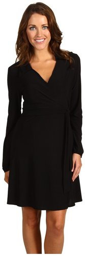 Christin Michaels - Noelle Wrap Dress (Black) - Apparel