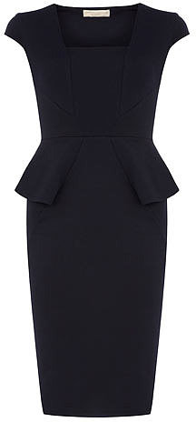 Ink structured peplum dress