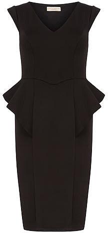 Black waterfall dress