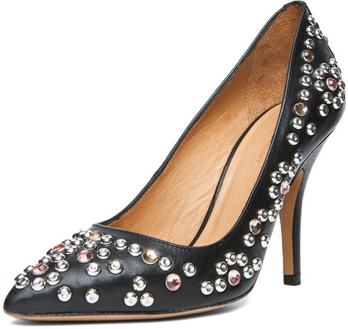 Isabel Marant Clemence Studded Heel in Black