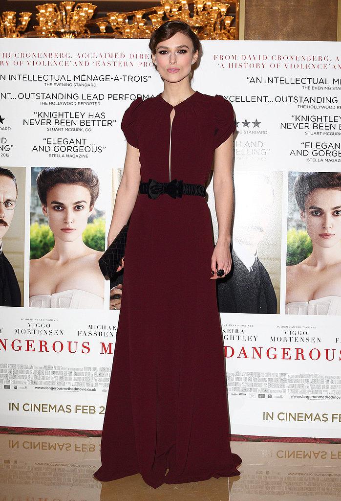 Keira Knightley at the Dangerous Method UK Premiere