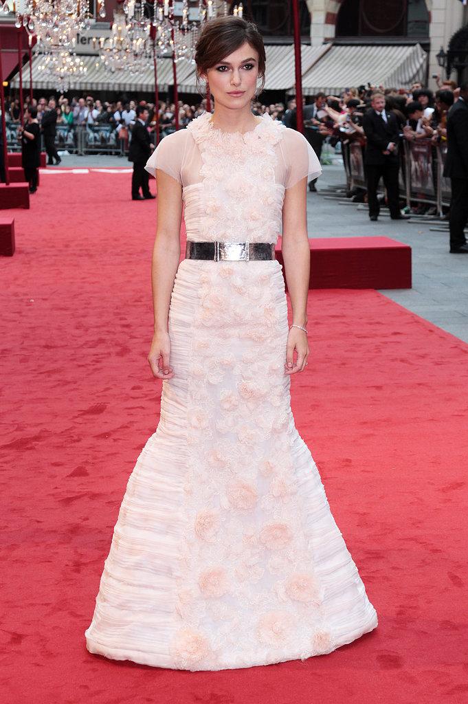 Keira Knightley at the Anna Karenina UK Premiere