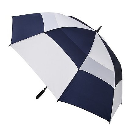 We love the oversize check print (very on trend!) on this Totes blue line canopy umbrella ($26).