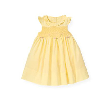 She's sure to stand out in the sweet yellow Hand-Embroidered Rose Smocked Dress ($55, originally $69) from Janie and Jack.