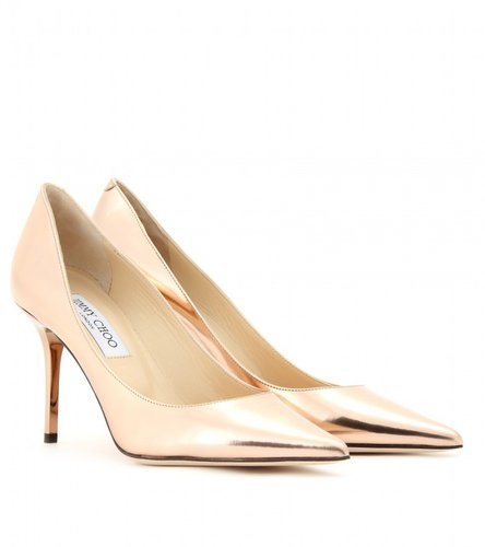 Jimmy Choo AGNES METALLIC LEATHER PUMPS
