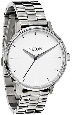 Nixon The Kensington Watch in White and Silver