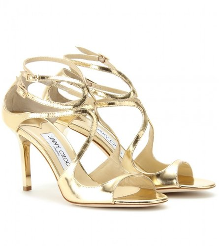 Jimmy Choo IVETTE METALLIC LEATHER SANDALS